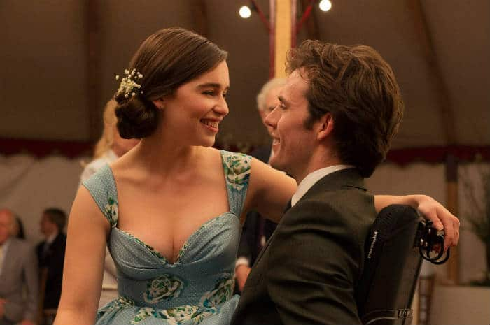 """Emilla Clarke and Sam Claflin in Jojo Moyes """"Me Before You."""" 