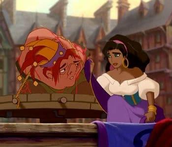 Esmeralda and Quasimodo Photo: Disney