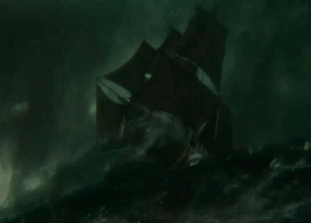 The Essex in a Storm - In the Heart of the Sea