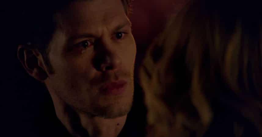 Klaus cries; No More Heartbreaks