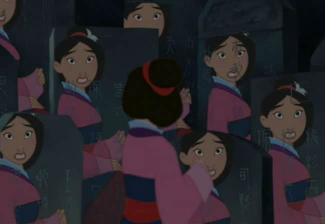 "Mulan is confronted by her reflection in ""Reflection"" Photo: Disney"
