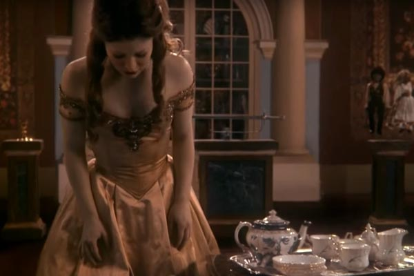 Belle wearing her classic dress. Photo: ABC