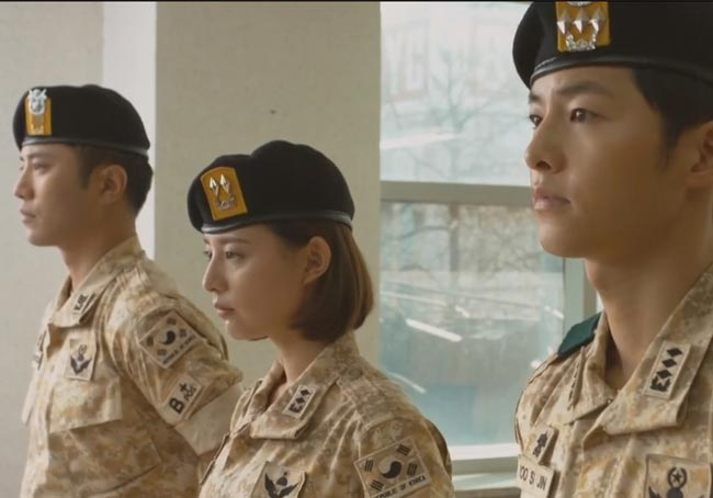 Soldiers: Dae-Young, Myung-Joo and Shi-Jin; Descendants of the Sun