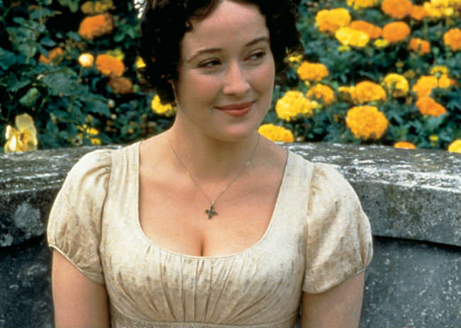 Elizabeth Bennet in the 1995 adaptation of Pride and Prejudice. Women in Literature.