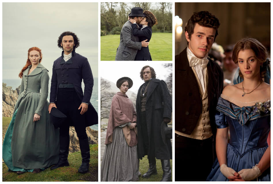collage of period dramas on amazon prime