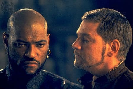 Laurence Fishburne and Kenneth Branagh in Othello