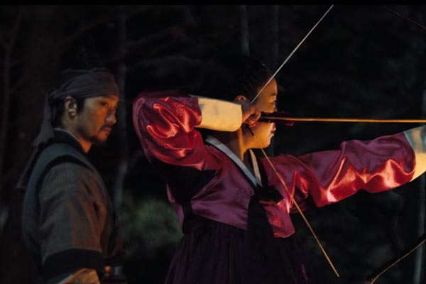 Ja-In practicing archery. Photo: Lotte Entertainment