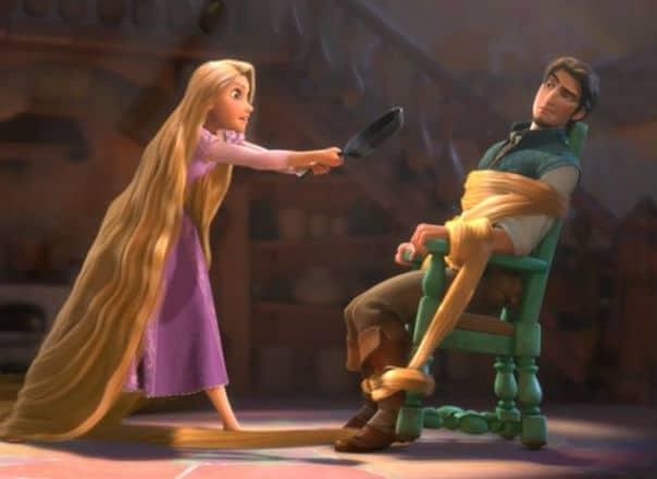 Rapunzel Meets Flynn Rider Photo: Disney