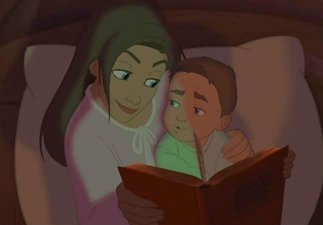 Jim and his Mom Reading Photo: Disney