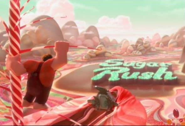 Ralph in Sugar Rush Photo: Disney; WRECK-IT RALPH