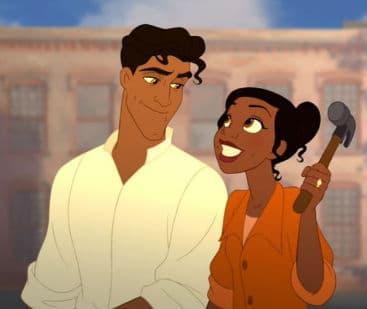 Tiana and Naveen Get to Work Photo: Disney