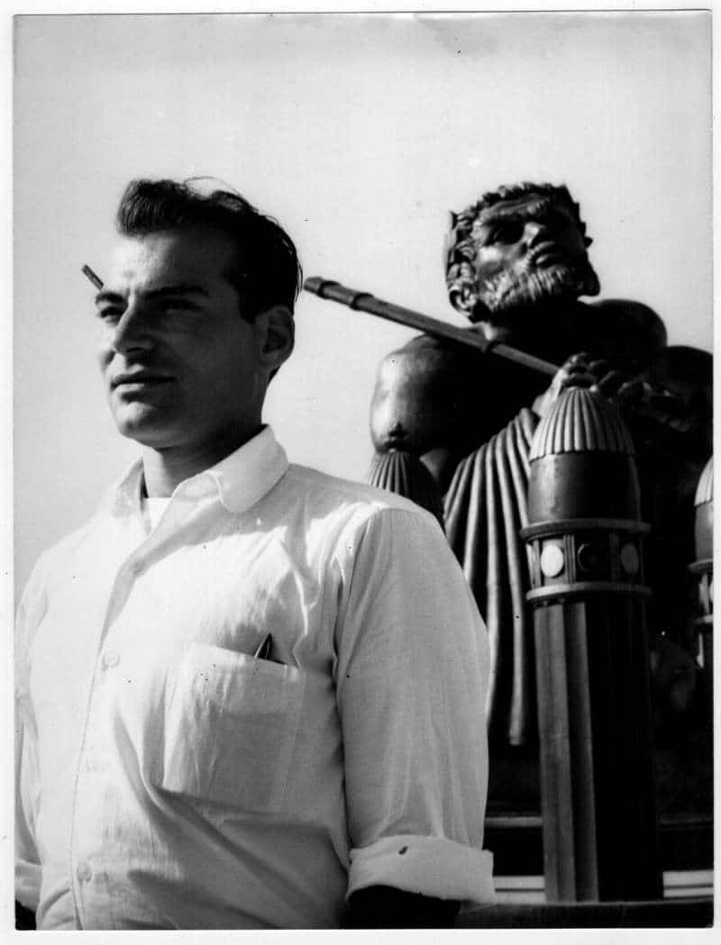 John Alarimo Jr. on the set of Ben-Hur. Photo Courtesy of Vision Films.
