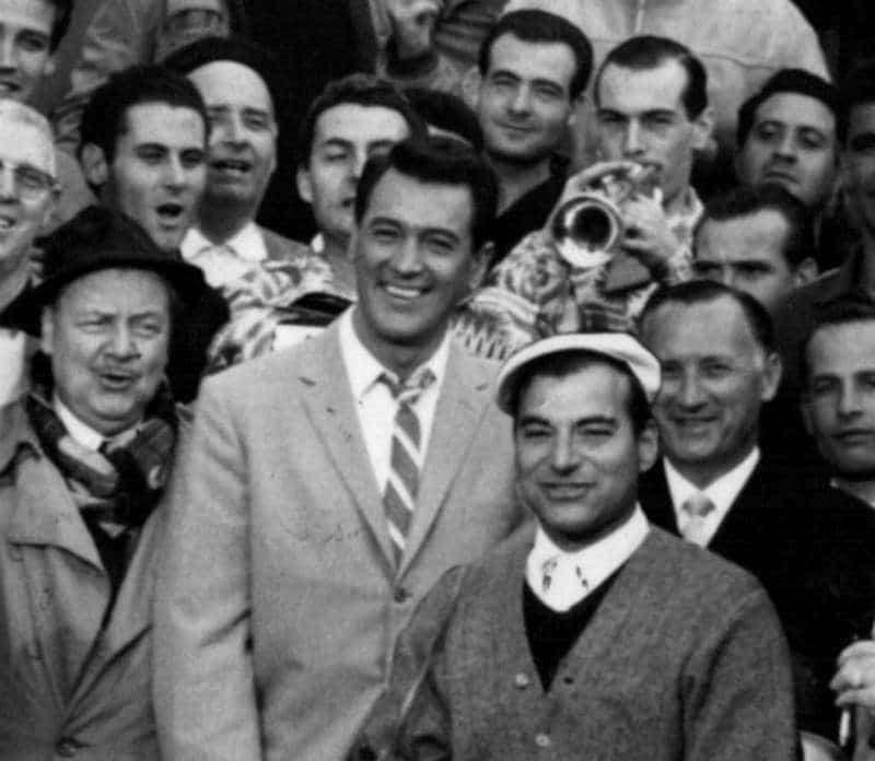 Johnny Alarimo with Rock Hudson. Photo Courtesy of Vision Films.