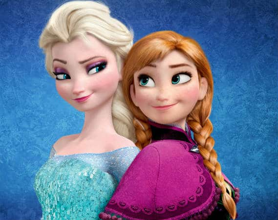 Anna and Elsa in Frozen