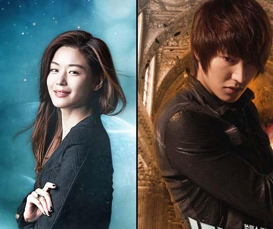Jeon Ji-Hyun and Lee Min-Ho. Photos: SBS