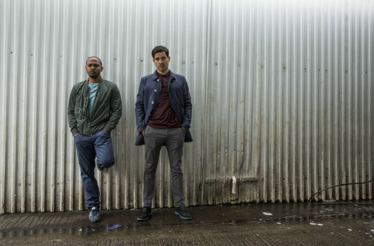 Noel Clarke and Rob James-Collier in The Level. Photo Courtesy of Acorn TV