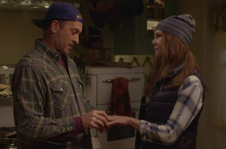 luke and lorelai in Gilmore Girls: A Year in the Life
