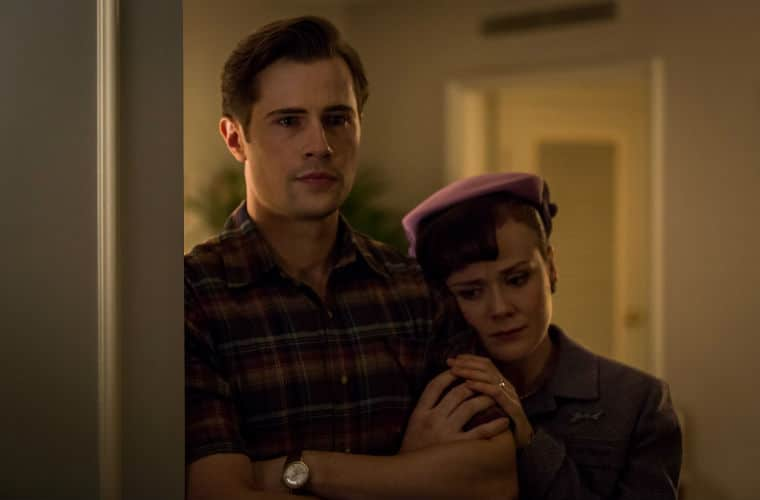 A Place To Call Home Season 4 on Acorn TV James Bligh (David Berry) and Olivia Bligh (Arianwen Parkes-Lockwood)