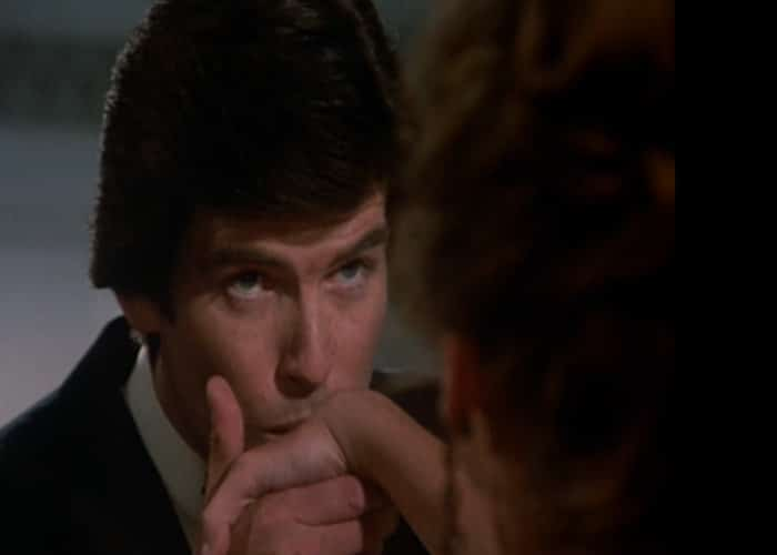 Remington Steele - first kiss