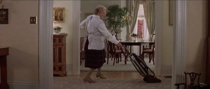 Mrs Doubtfire setting the dance floor on fire.