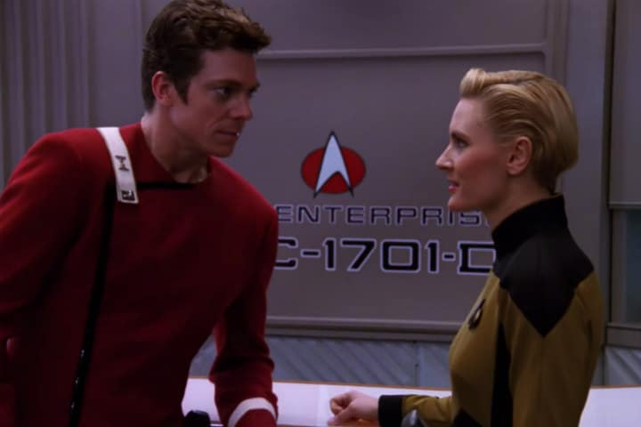 Romantic Moment of the Week: Where No One Has Gone Before – Lt. Tasha Yar and Lt. Richard Castillo