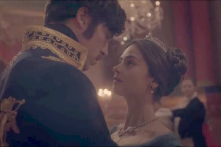 """The First Dance   Albert and Victoria share a dance in ITV's """"Victoria."""""""
