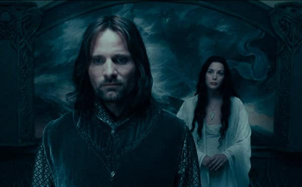 Arwen and Aragorn Fellowship of the Ring Romantic Fantasy