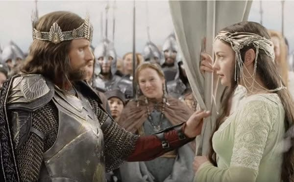 Arwen and Aragorn Return of the King Romantic Fantasy