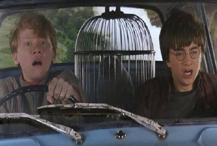 harry potter chamber of secrets flying car