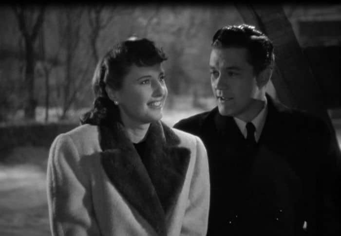 Barbara Stanwyck & Dennis Morgan in Christmas in Connecticut