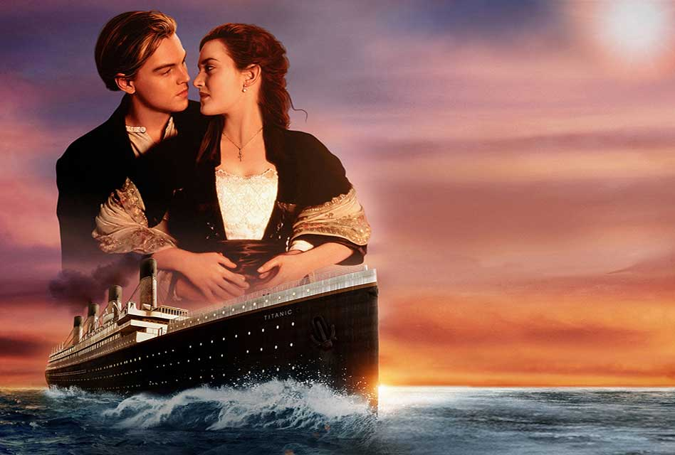 Kate Winslet and Leonardo Dicaprio in Titanic. Top 5 of the Most Romantic Leonardo Dicaprio Movies to Watch