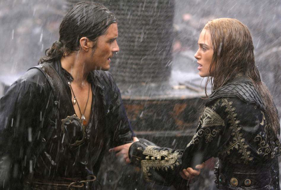 Romantic Moment: Pirates of the Caribbean\'s Will and Elizabeth