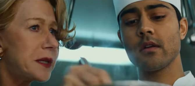 Helen Mirren & Manish Dayal in The Hundred Foot Journey