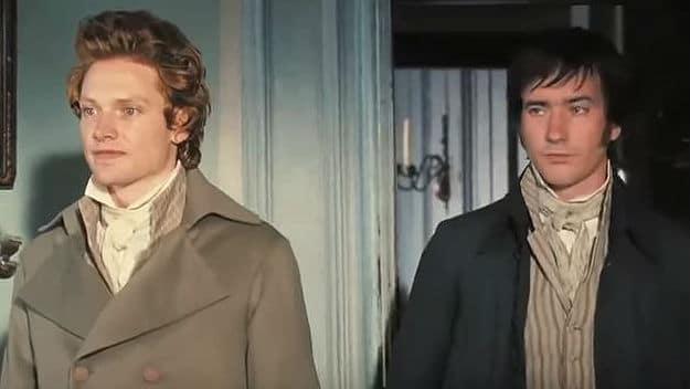 Simon Woods & Matthew MacFadyen as Bingley and Darcy in Pride and Prejudice