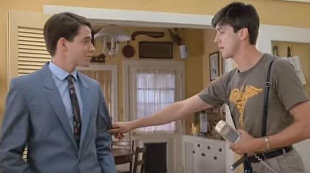 Matthew Broderick & Alan Ruck as Ferris and Cameron in Ferris Bueller's Day Off