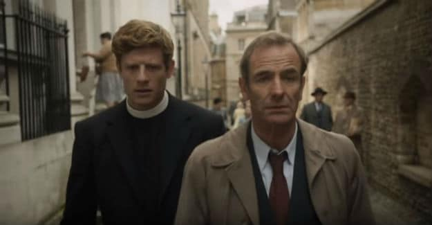 James Norton and Robson Green as Sydney Chambers and Geordie Keating
