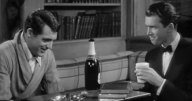 Cary Grant & James Stewart as C.K. Dexter Haven and Mike Connor in The Philadelphia Story