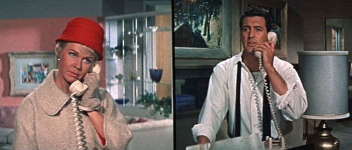 Doris Day and Rock Hudson in Pillow Talk