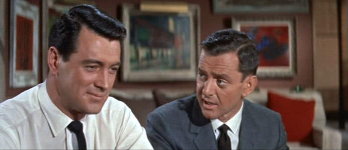 Rock Hudson and Tony Randall in Pillow Talk