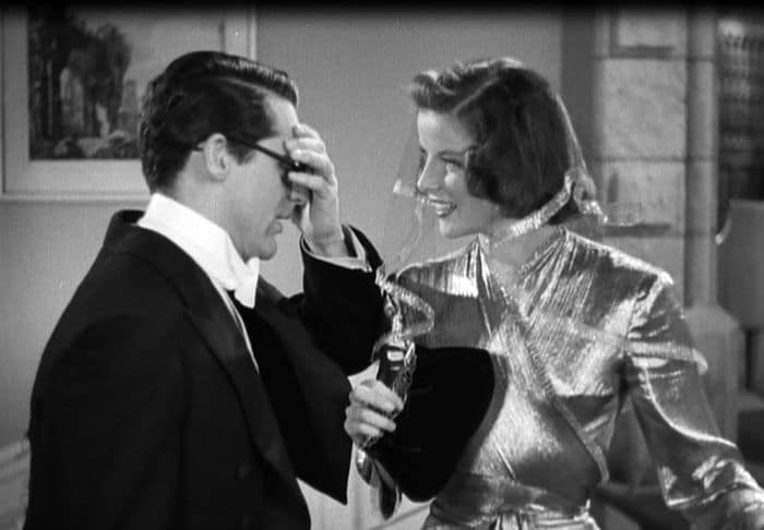 Cary Grant & Katharine Hepburn in Bringing Up Baby