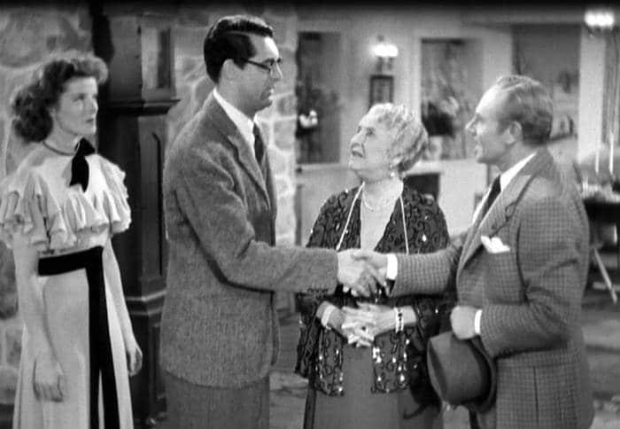 Katharine Hepburn, Cary Grant, May Robson & Charlie Ruggles in Bringing Up Baby