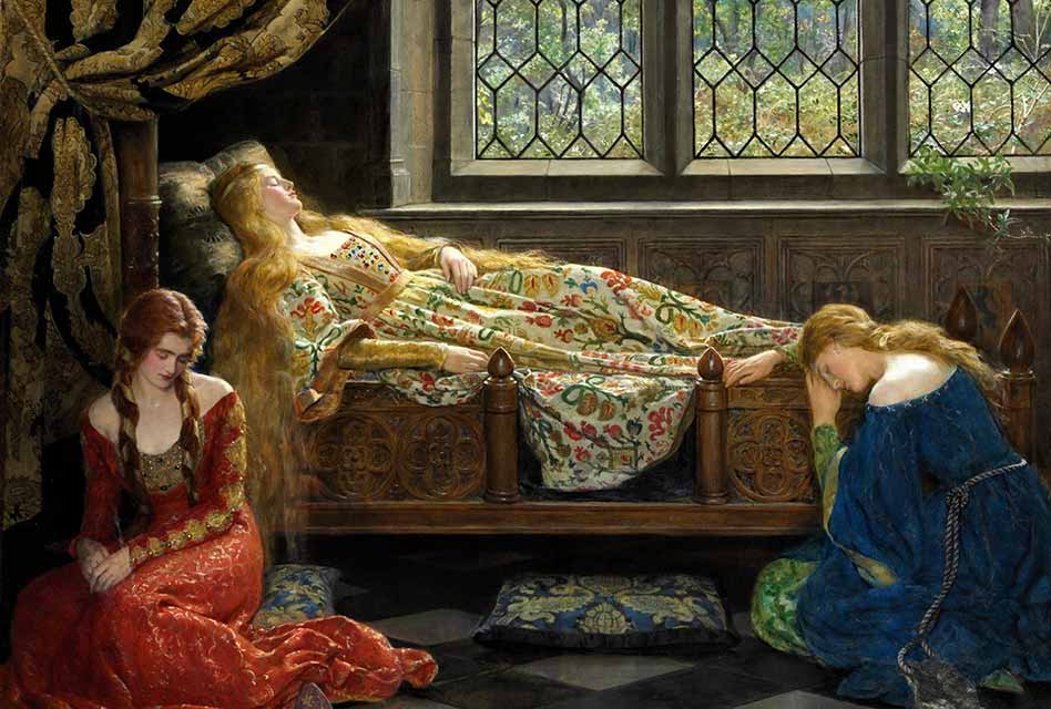Sleeping Beauty by John Collier; 7 of the Greatest Underrated Fairy Tales You Will Really Love