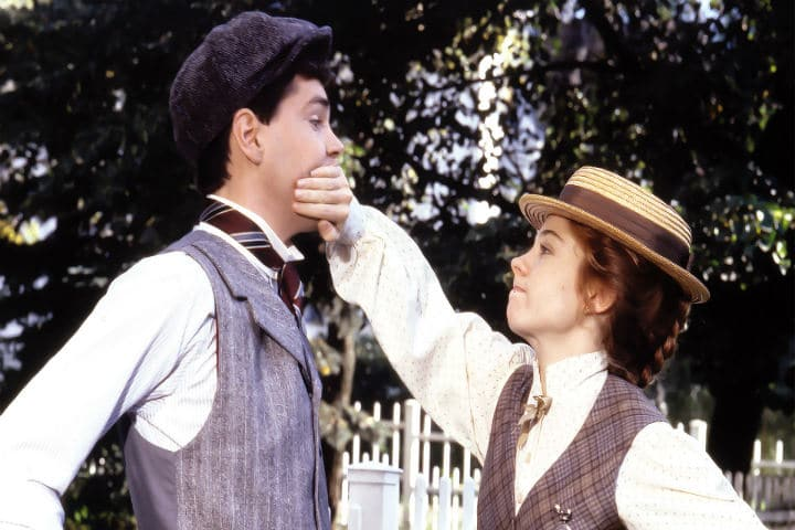 Anne and Gilbert in Anne of Green Gables the sequel