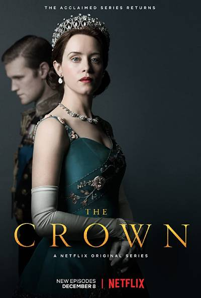 The Crown poster; best period dramas on Netflix