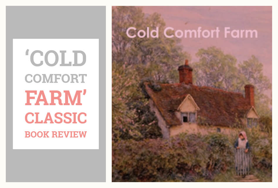 Cold Comfort Farm by Stella Gibbons. Cold Comfort Farm is a comedic novel, a gentle parody of romantic pastoral novels, telling the tale of a young busybody, Miss Flora Poste.