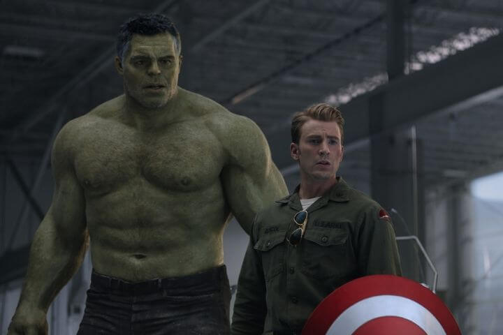 Banner and Captain American in Avengers: Endgame