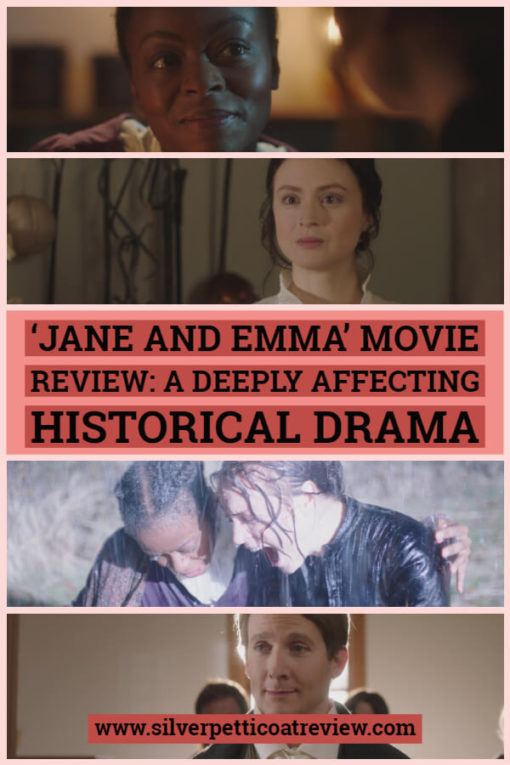 Jane and Emma Movie Review: A Deeply Affecting Historical Drama. A period drama about the friendship between two women in the midst of the 1844 death of the LDS founder, Joseph Smith. #FilmReview #PeriodDramaReview #JaneManningJames #EmmaHaleSmith