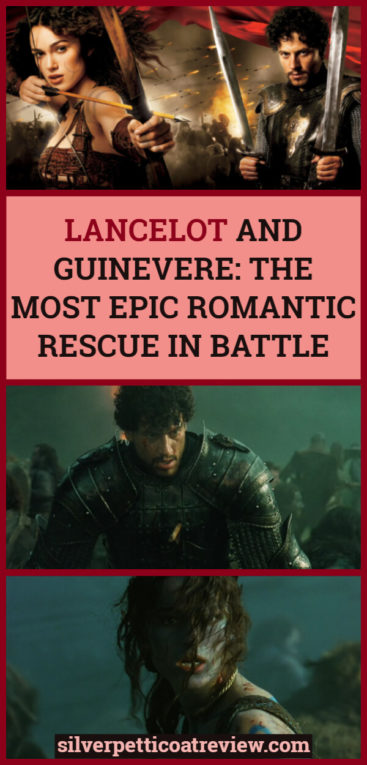 Classic Romantic Moment of the Month: Lancelot and Guinevere - The Most Epic Romantic Rescue in Battle. Since it was the 15th anniversary of King Arthur (2004) this month, we decided to put the spotlight on this underrated unrequited love story. Read about the epic battle and romantic rescue and why we love it! #KingArthur #ArthurianLegends #Mythology #PeriodDramas #RomanticMovies #RomanticMoments #KeiraKnightley #IoanGruffudd