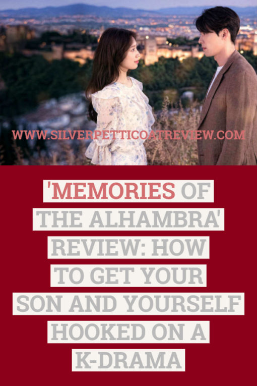 Memories of the Alhambra Review: How to Get Your Son and Yourself Hooked on a K-Drama. This is a romantic, action thriller series on Netflix.  #NetflixSeries #Romance #KoreanDrama