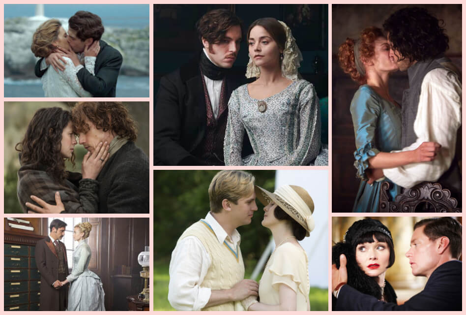 20 of the Most Romantic Period Drama TV Series to Watch collage